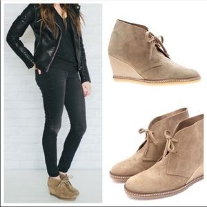 J Crew Suede Leather McAllister Wedge Boots Sz 7